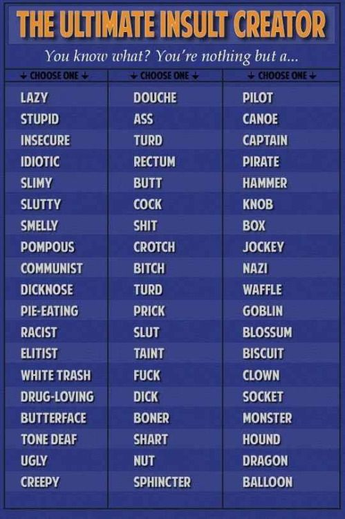Annoying nicknames for guys
