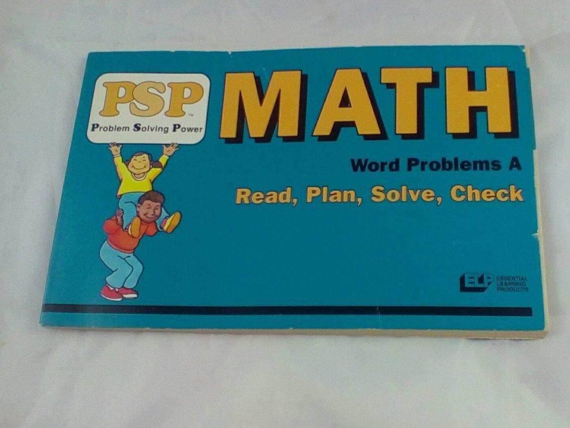 Workbooks 1st grade math workbooks : 1991PSP Math Word Problems A Workbook ELP First Grade by ...