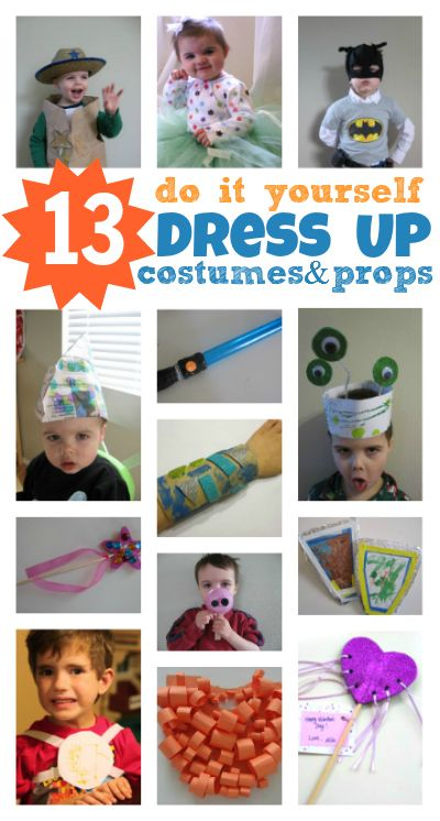 13 Diy Dress Up Costumes Props Do It Yourself Costumes Dress Up Costumes Kids Dress Up