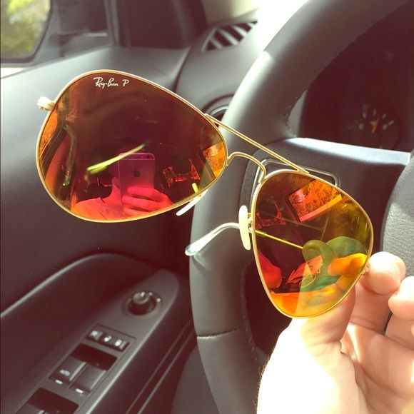 ray ban lens warranty  $100 Orange mirrored Ray Ban Aviators