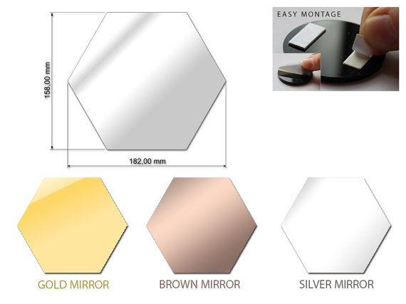 Hexagon Shape Mirror Wall Decal Wall Sticker 1pcs | Wall ...