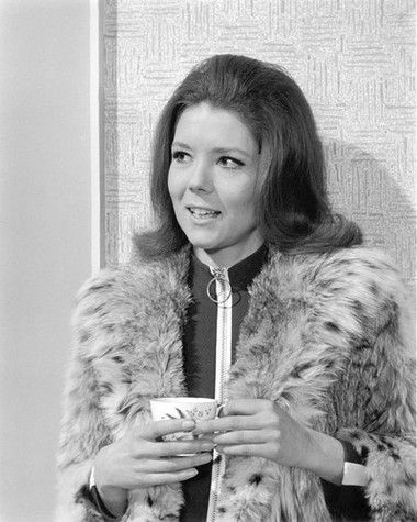 Art print poster canvas  Diana Rigg in Emma Peel Outfit