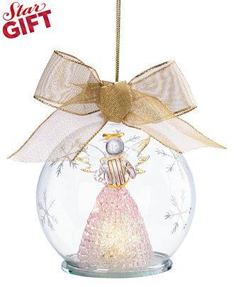 Lenox Exclusive Light Up Angel Wonder Ball Ornament - Christmas Ornaments -  Holiday Lane - Lenox Exclusive Light Up Angel Wonder Ball Ornament - Christmas