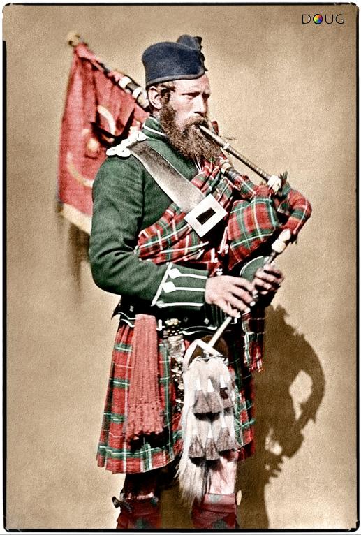 Pipe-Major John Macdonald, 72nd (Duke of Albany's Own Highlanders) Regiment of Foot, 1856.