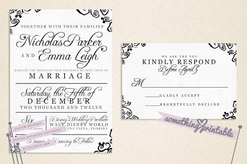 Whimsy DIY Printable Wedding Invitation by SomethingPrintable