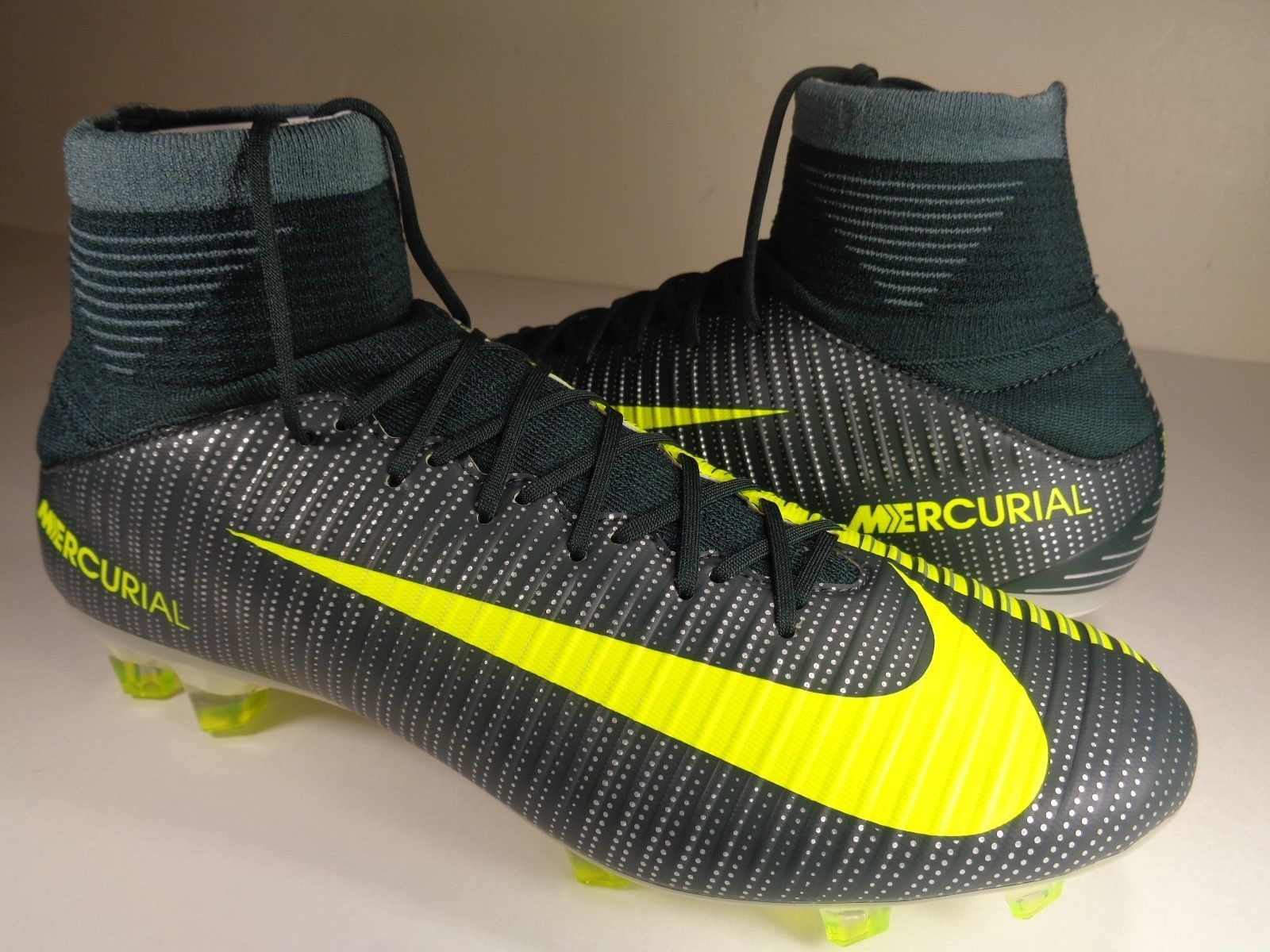 244f11219a2 Nike Mercurial Veloce III DF CR7 FG Soccer Cleat Seaweed SZ 8.5 (852518-376)