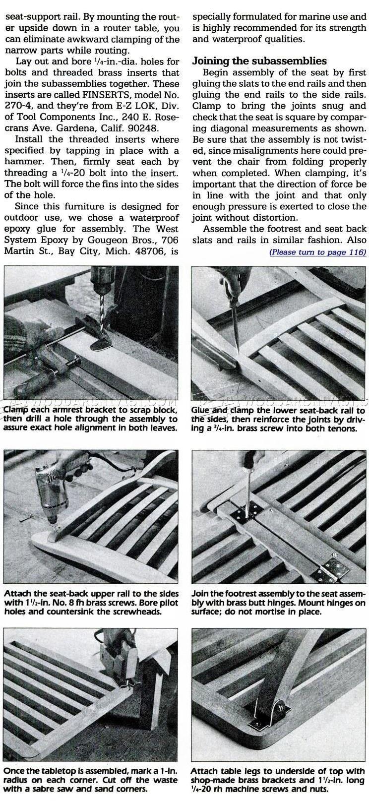 Titanic Deck Chair Plans Outdoor Furniture Plans Mesas De  # Muebles Titanic