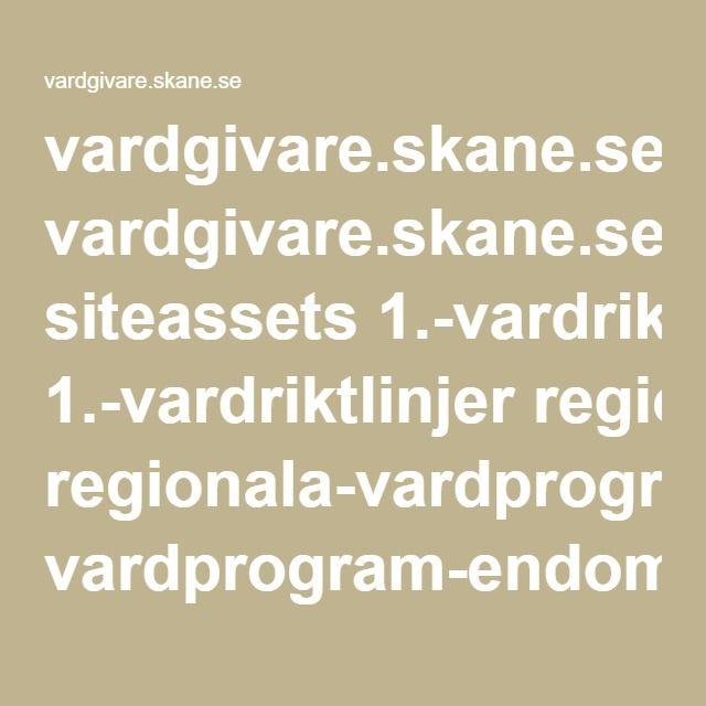 vardgivare.skane.se siteassets 1.-vardriktlinjer regionala-vardprogram---fillistning vardprogram-endometrios-2015-11-17.pdf