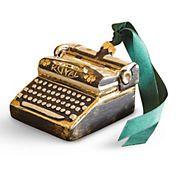Vintage Typewriter Christmas Ornament