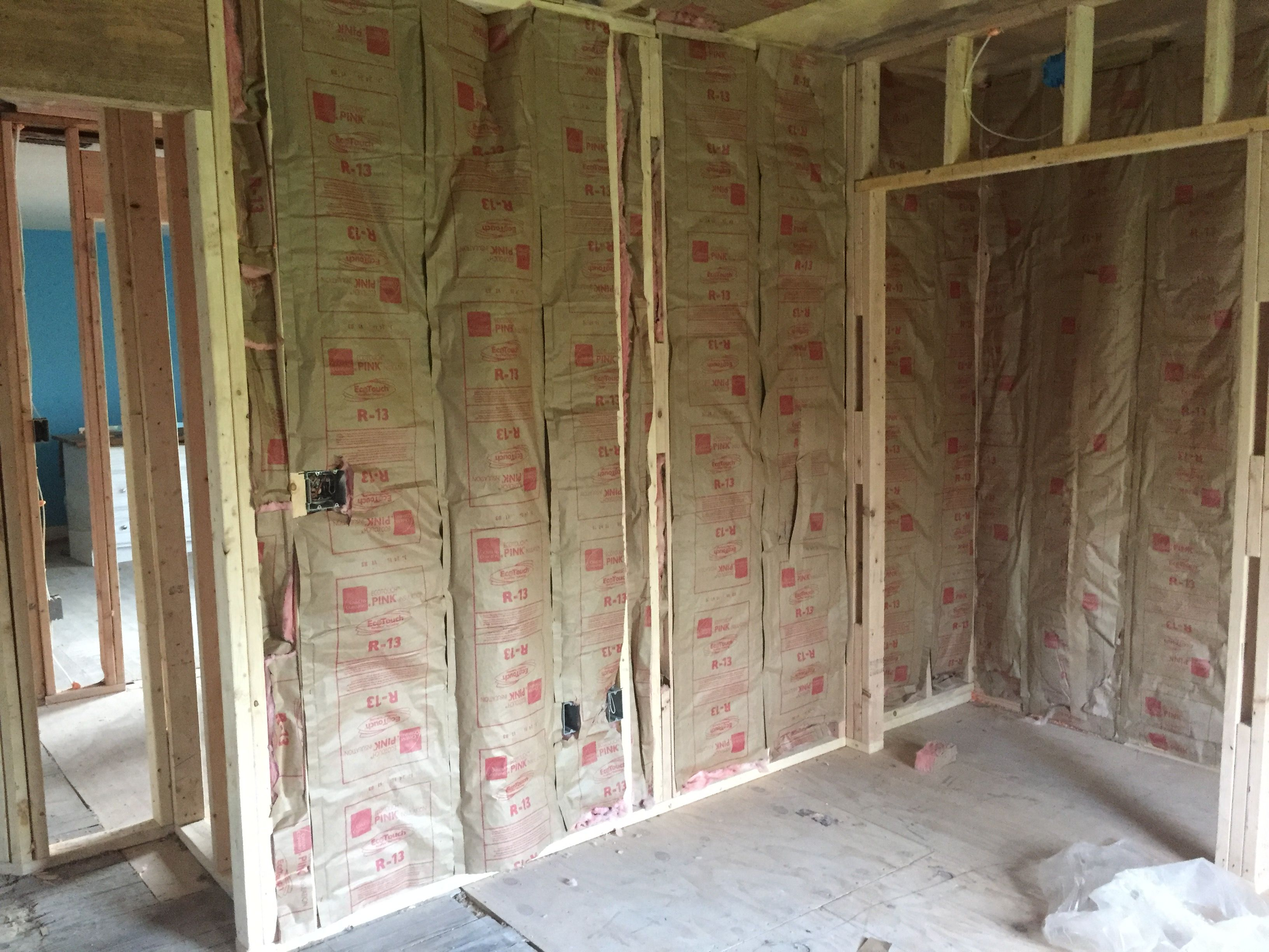 Insulating The Wall At The Shower For Sounding Bedroom 3 Decor Home Decor Room Divider
