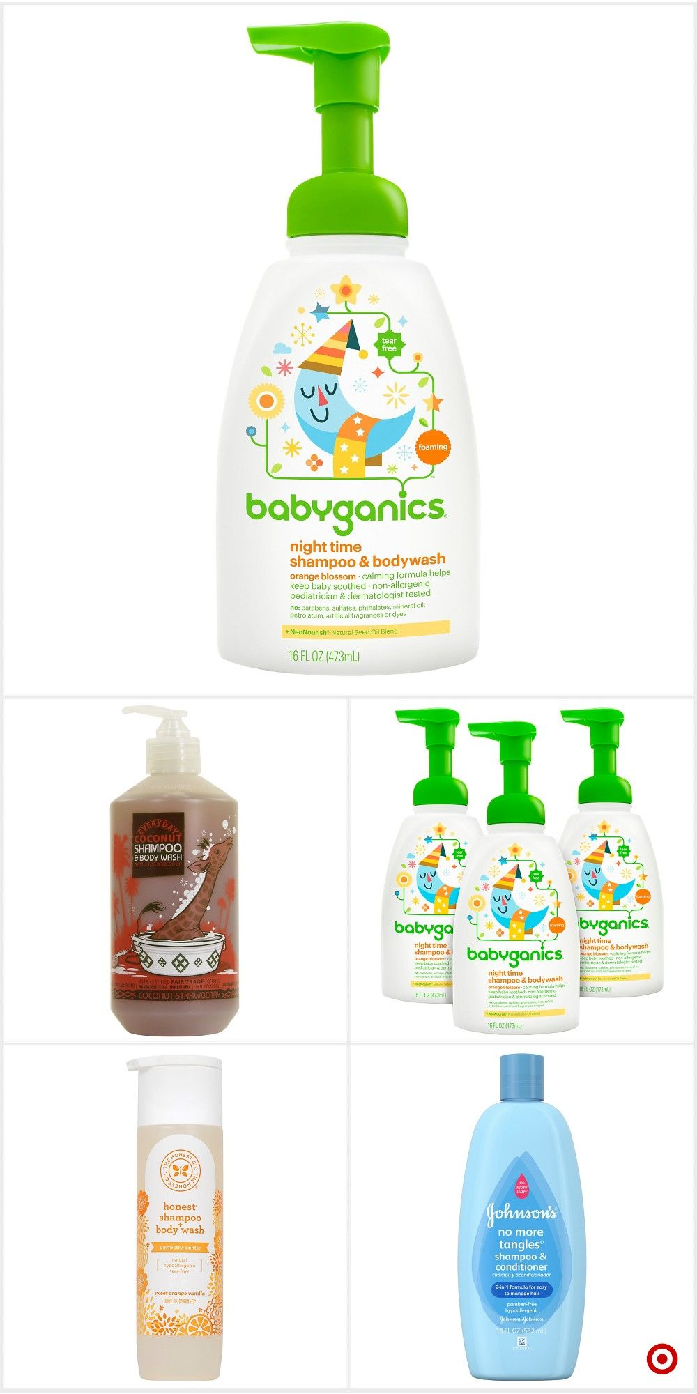 Shop Target for baby 2in1 hair shampoo and body wash you
