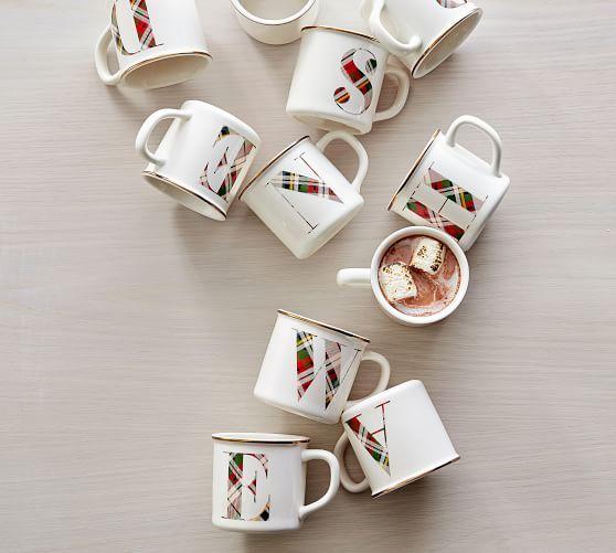 Plaid Alphabet Mug Alphabet Mugs Gifts For Wedding