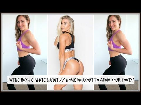 (4) Fitness Model Hattie Boydle's Glute Building Circuit // Home Workout - YouTube