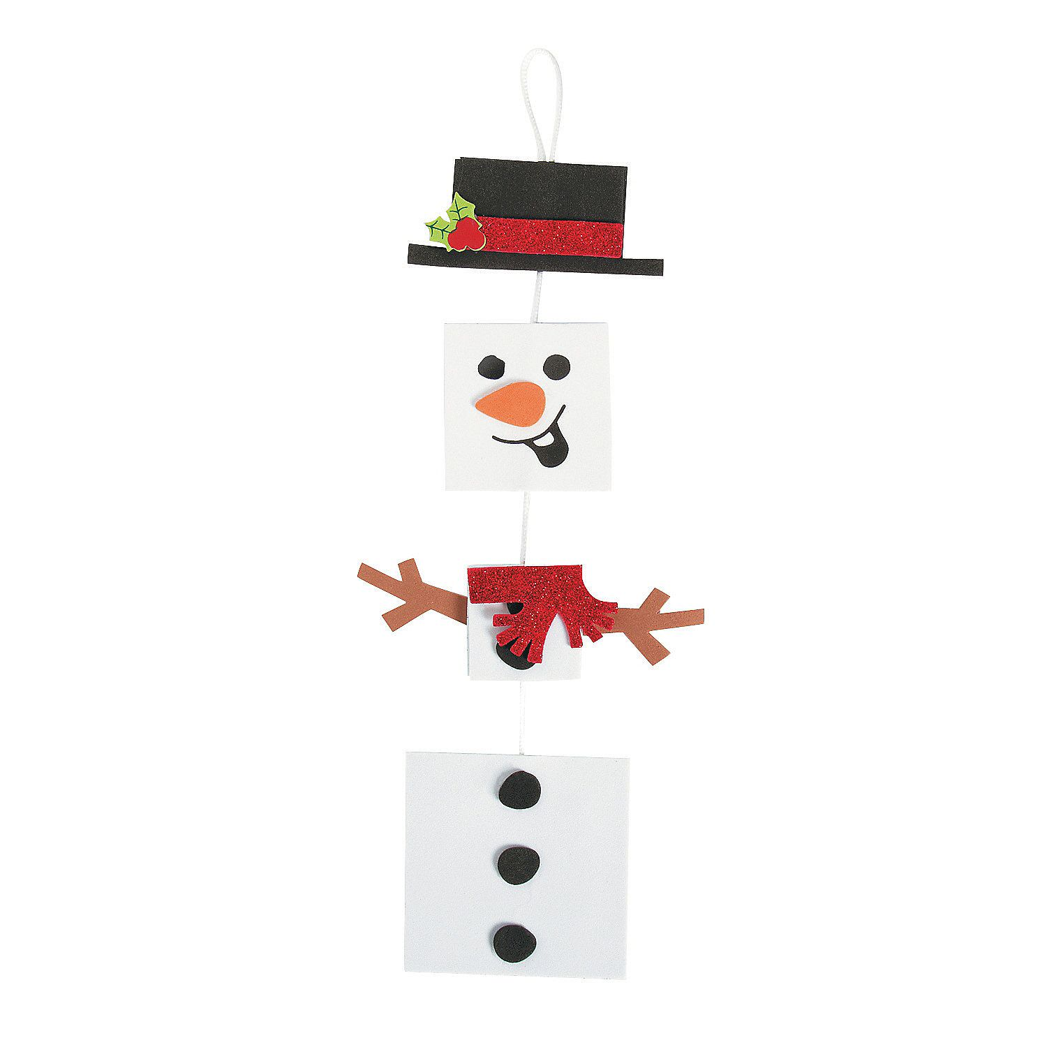 Square Dangling Snowman Sign Craft Kit  Orientaltradingcom 12$799