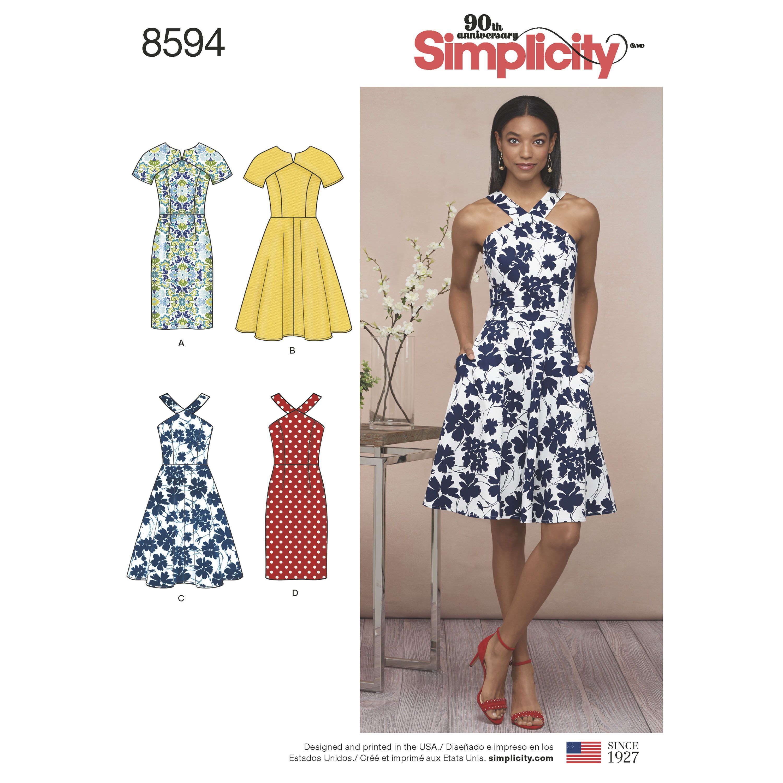 Simplicity 8594 Miss And Petite Dresses Sundress Pattern Dress Sewing Patterns Sheath Dresses Pattern [ 3000 x 3000 Pixel ]
