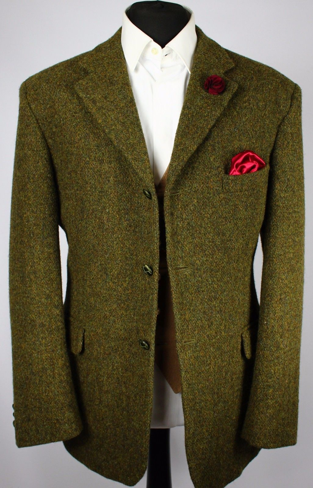 Harris Tweed Blazer Jacket Green Wedding Country 44r Exceptional Colour 926 Ebay Well Dressed Men Green Jacket Harris Tweed