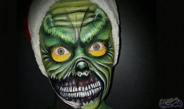 فنانة مكياج استرالية تتفنن في رسم الرعب على الوجه Halloween Face Makeup Face Makeup Face
