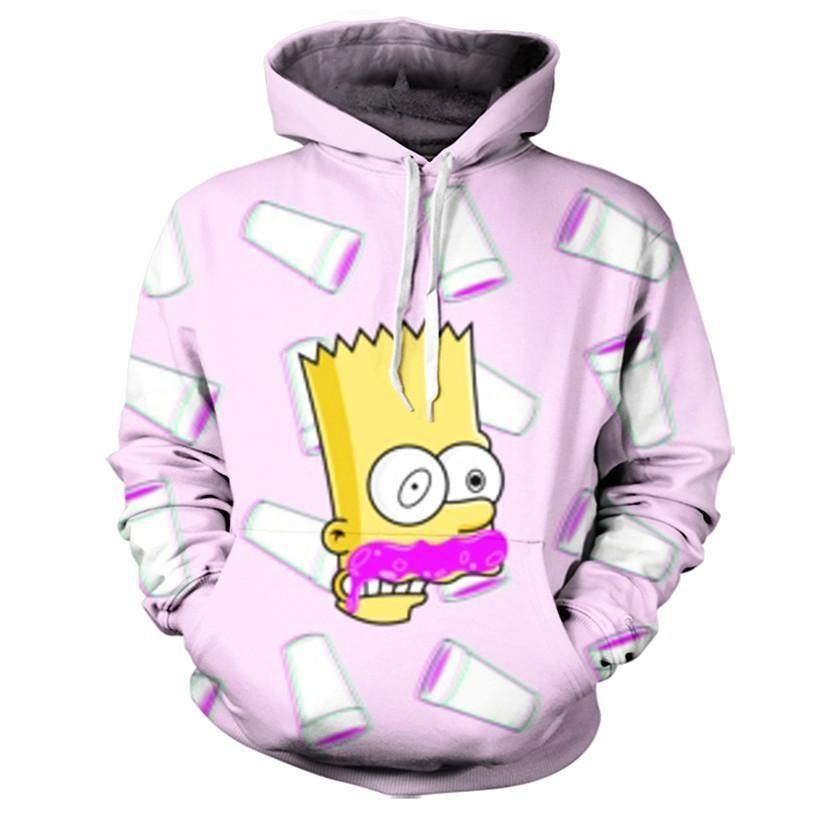 5e185ca7a Bart On Lean Hoodie | Devante | Hoodies, Custom made clothing ...