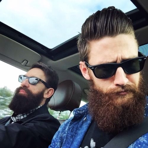 bearditorium:Fletcher & friend ***Beard buds are best