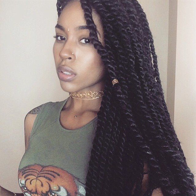 The ultimate guide to summer braids for black girls marley marley twists are similar to senegalese twists but they are done with kinky hair extensions pmusecretfo Images