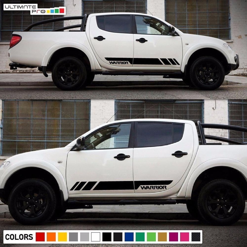 Decal Sticker Side Stripe Kit For Mitsubishi L200 Triton Warrior Light Tailgate Ultimateprocy1ulti10deca15 Stripe Kit Vehicles Body Kit