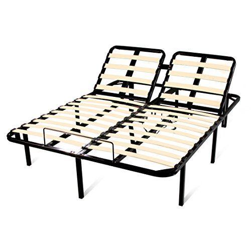 Electric Adjustable Beds Bed Frame Base Split King Motorized Steel 2 Remotes New Adjustable Bed Frame Adjustable Beds Electric Adjustable Beds