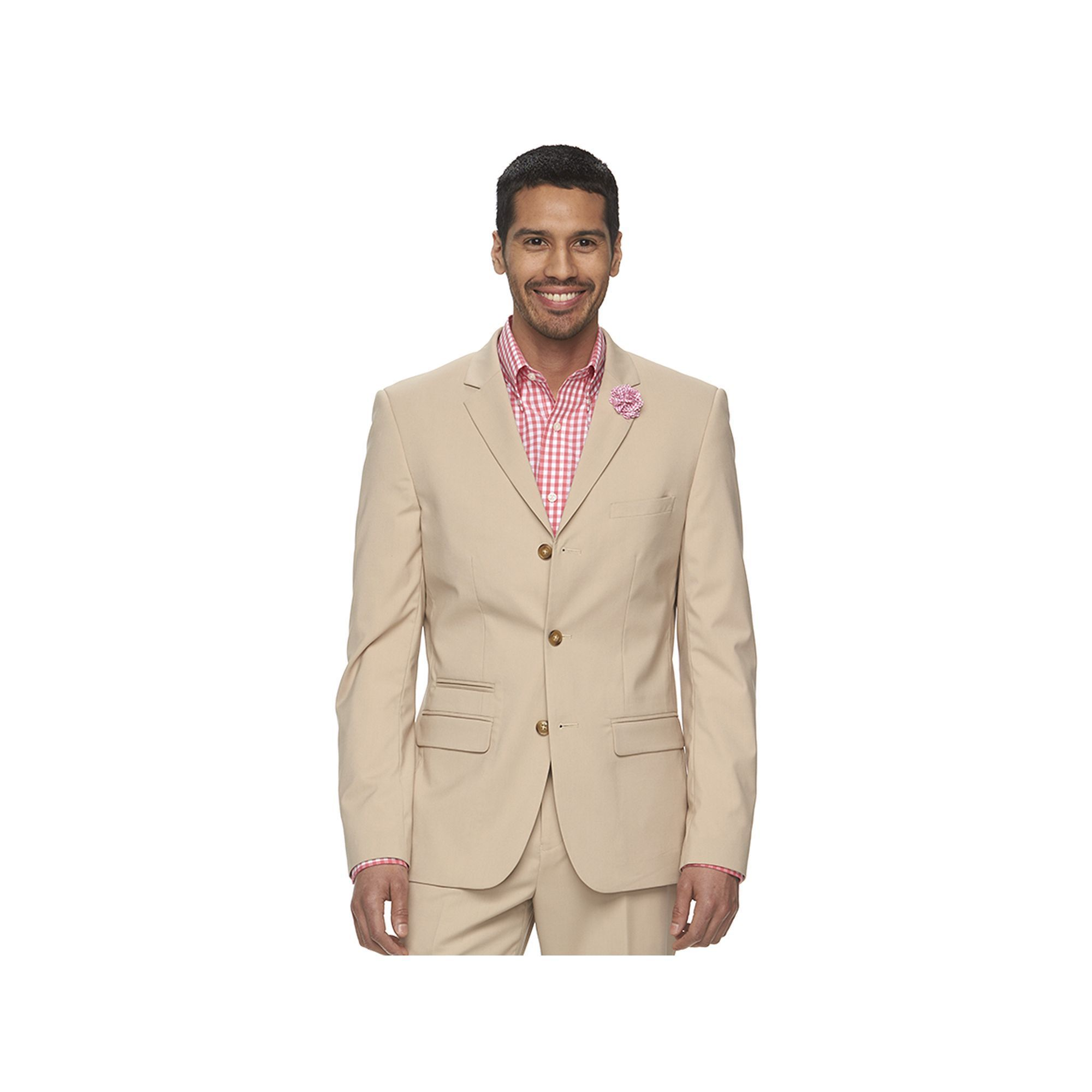 Men's WD.NY Slim-Fit Tan Suit Jacket, Size: XXL, Brown | Jackets ...