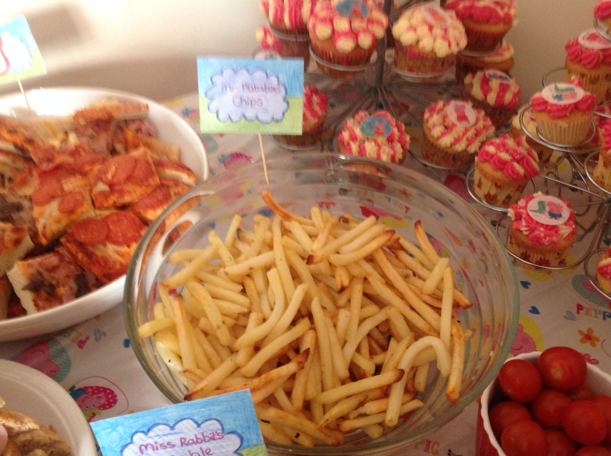 peppa pig party food mr potatoes chips