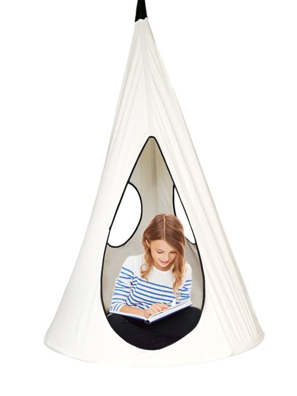 Hanging this Nest Hammock Swing Chair in your backyard