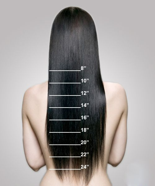 Length Chart How To Measure Your Extensions Length With Images
