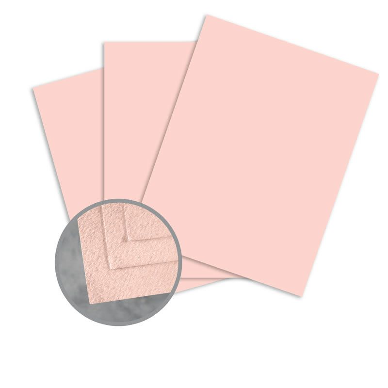 Cascata Salmon Card Stock 8 1 2 X 11 In 80 Lb Cover Felt 25 Per Package Pink Cards Card Stock Cards