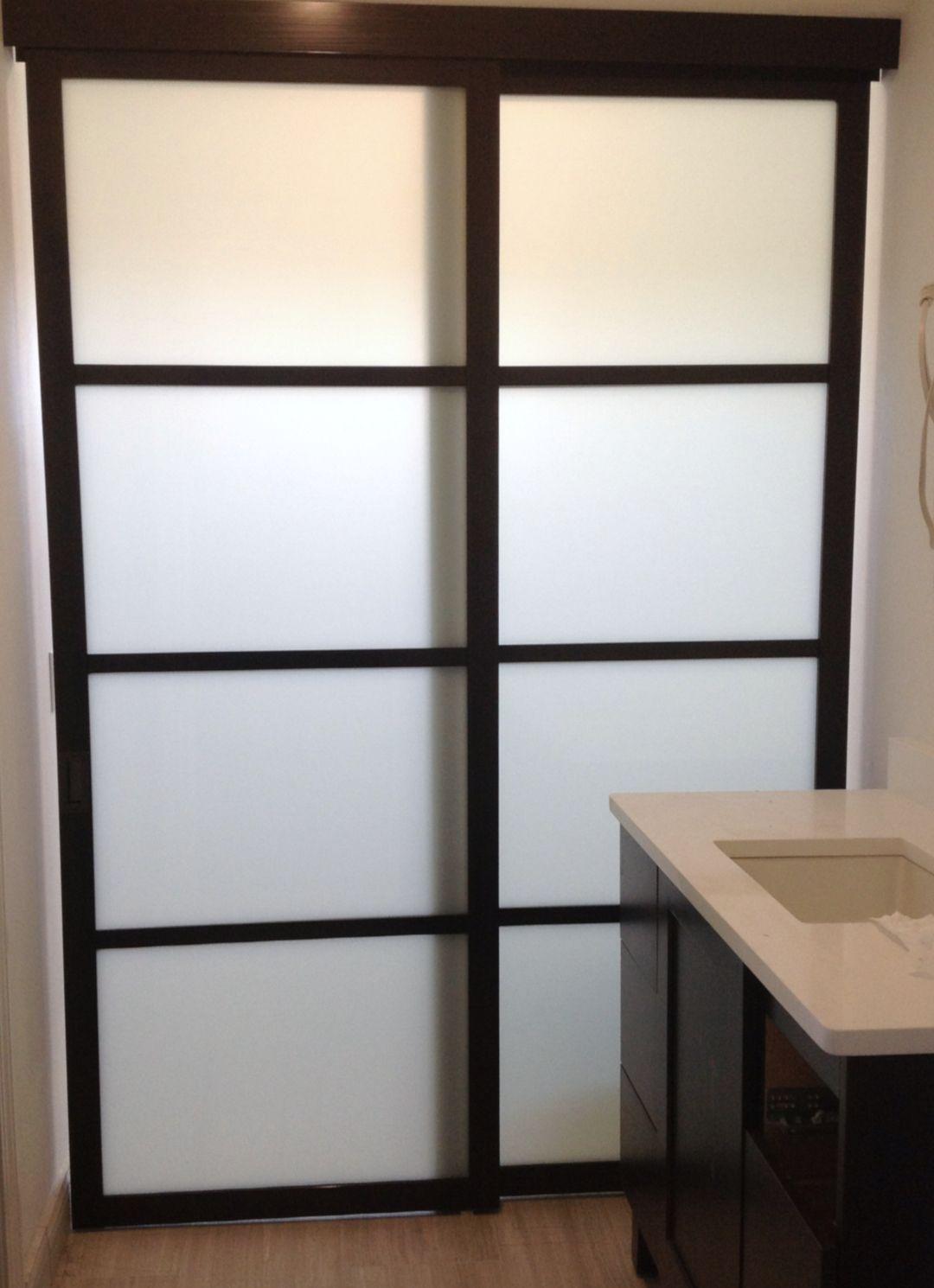 Shoji Style Sliding Glass Door For Bathroom Glass Closet Sliding Glass Door Glass Closet Doors