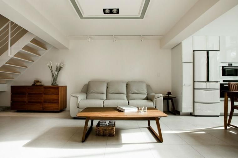 Wohnmöbel des natürlichen Designs im modernen Haus Wohn