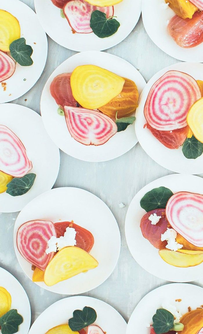 A colorful kaleidoscope of beets make for the most beautiful salad.