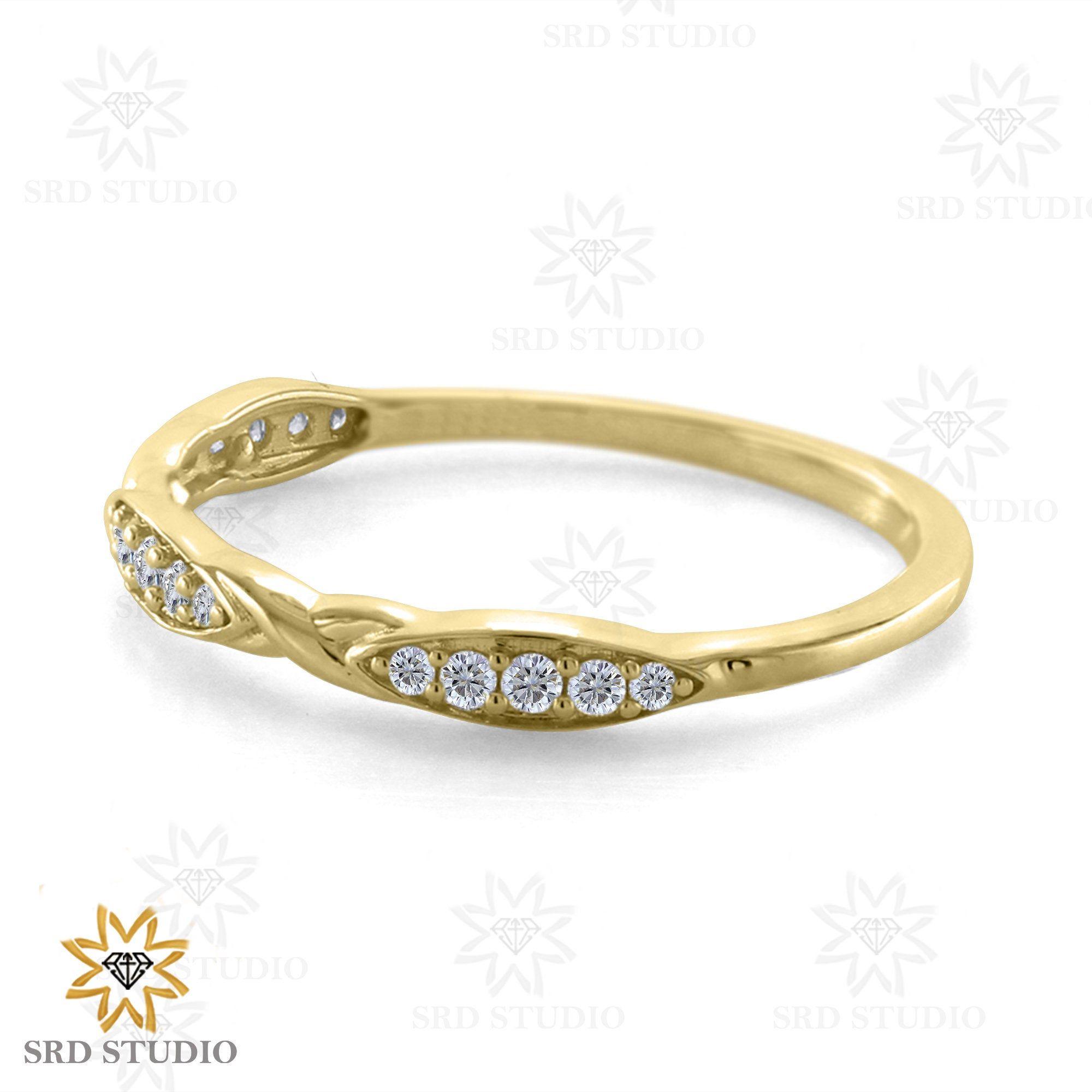 Anniversary band,Proposal  Gold ring,GIFT  band Yellow GOLD WEDDING  band