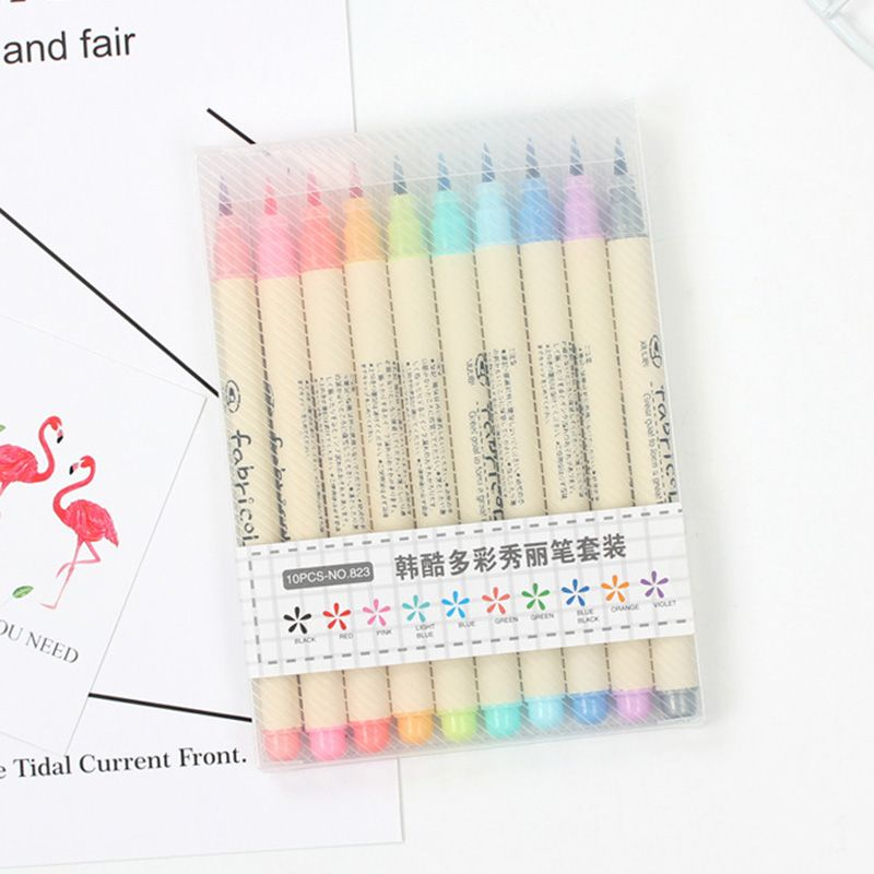 1pc Fabricolor Touch Write Brush Pen Colored Marker Pens Set For