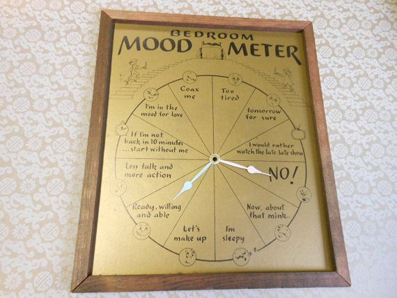 Retro Wedding Gifts: FUNNY WEDDING GIFT Vintage Bedroom Mood Meter Clock Face