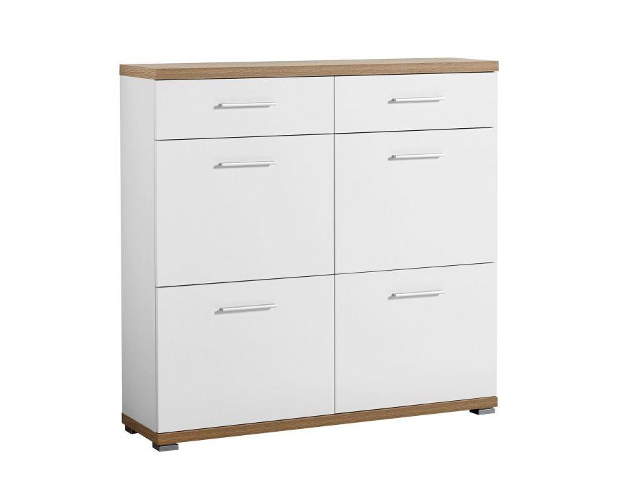 TIPTOP Skoskåp 105 Ek Vit i gruppen Inomhus Förvaring Skåp& Byråar hos Furniturebox (100 55