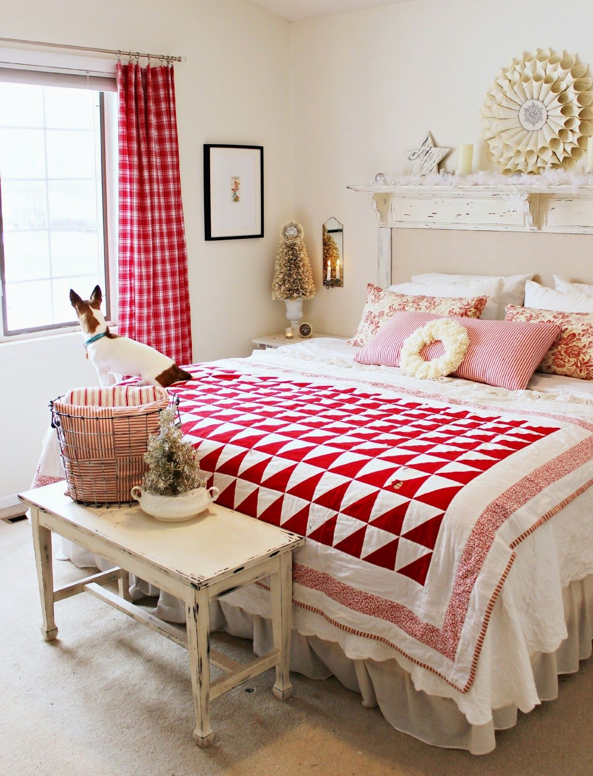 gorgeous farmhouse bedroom repin@residencestyle | { bedroom
