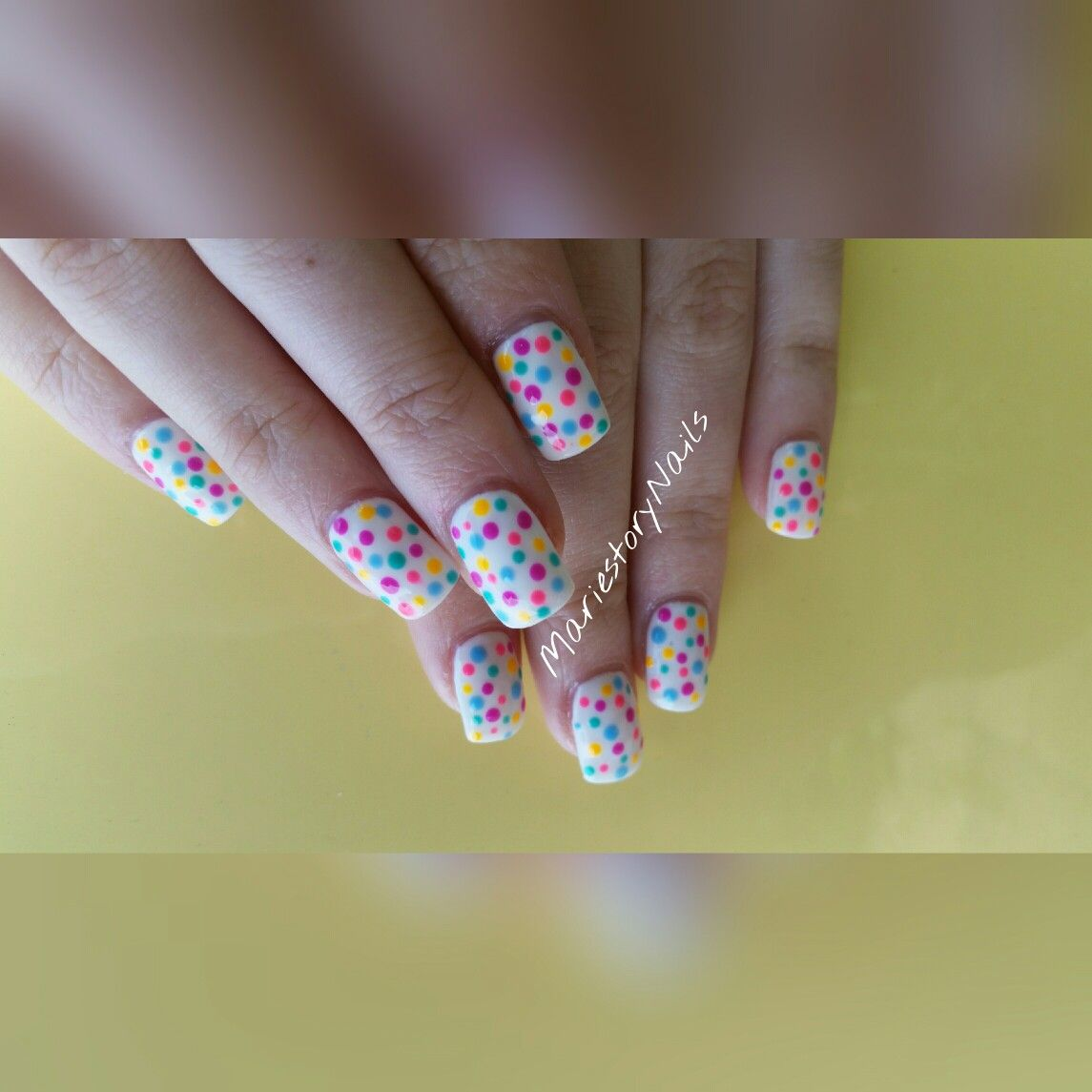 #summernails #dotnails