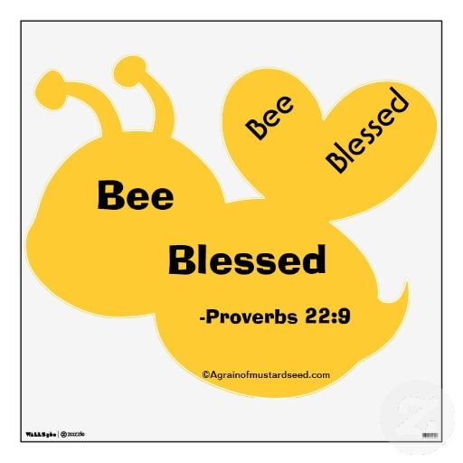 Bee Blessed Agrainofmustardseed.com Bumble Bee Wall Decor | Godly ...
