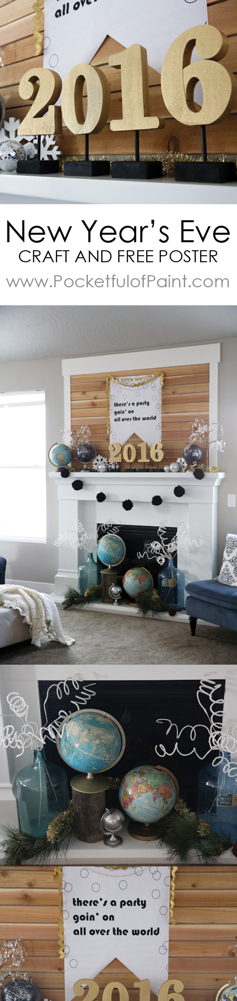 A New Year's Eve Mantle Free Printable and Craft Ideas ...