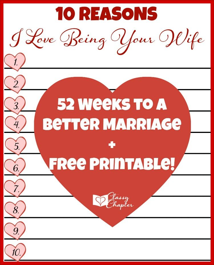 Download Your Free Printable To Tell You Husband Why You Love Being