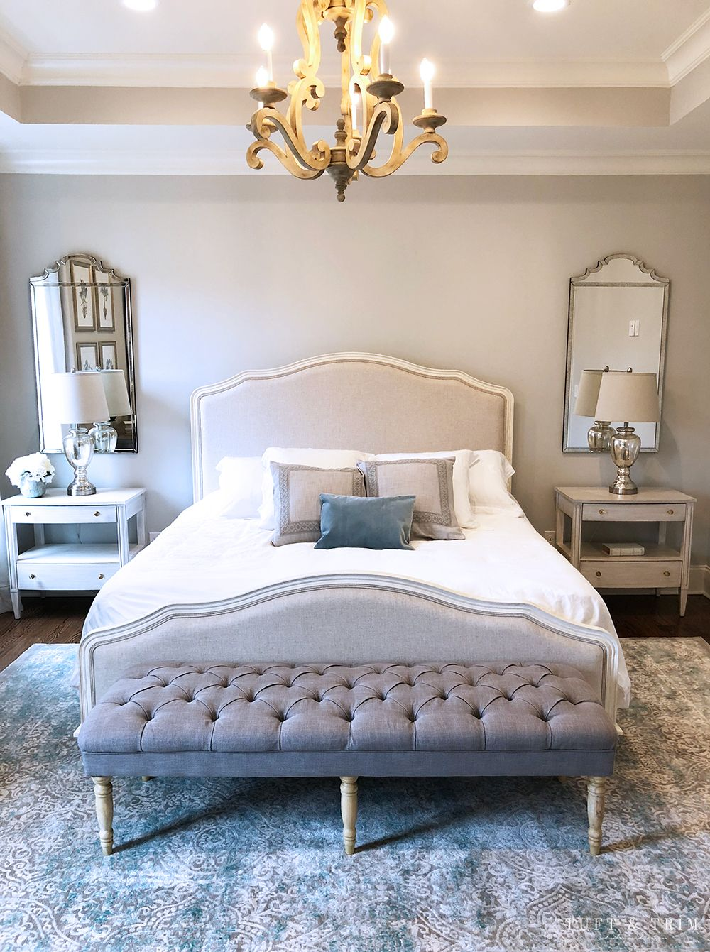 French Chic Bedroom e-Design | Tuft & Trim | Boho bedroom decor ...