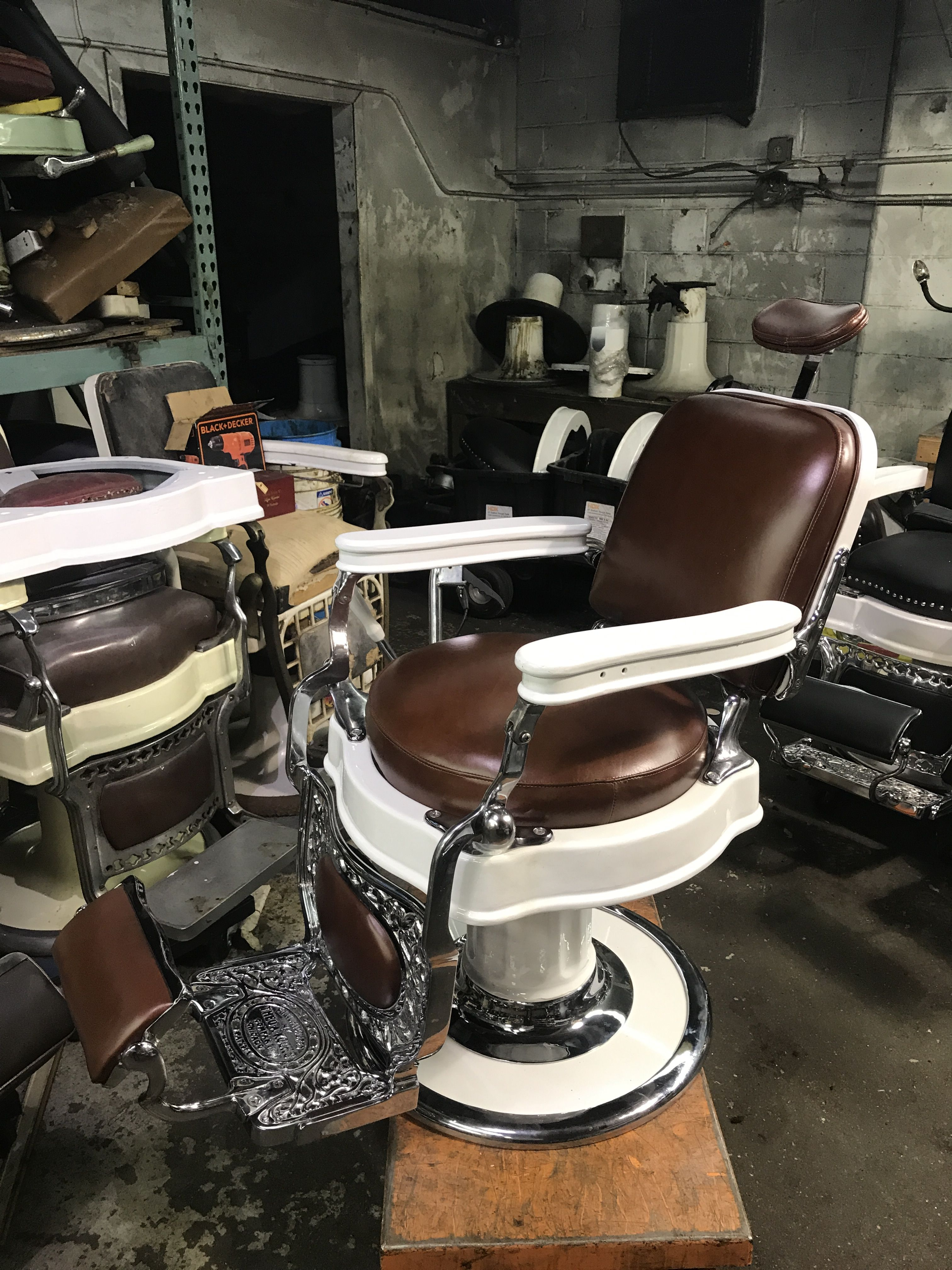 Pin By Custom Barber Chairs On Antique Barber Chairs In