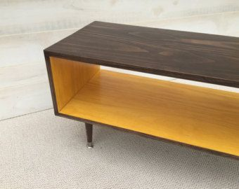 Coffee Table Handmade Mid Century Modern Chocolate And Mustard Or Custom Color Furniture Mcm