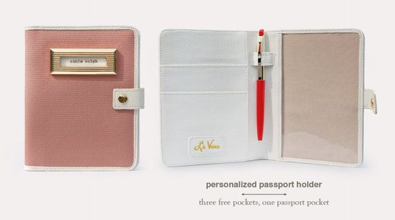 Personalized Passport Holder Rose by LeVero on Etsy