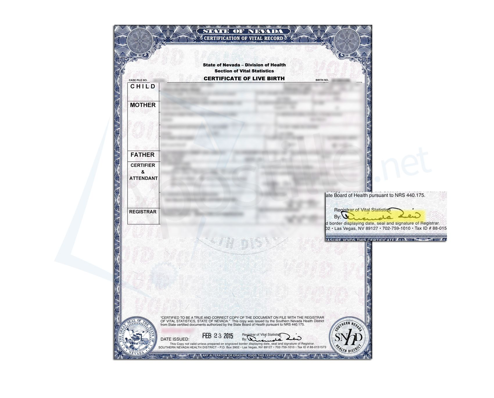 State of nevada birth certificate issued by a state registrar state of nevada birth certificate issued by a state registrar xflitez Gallery