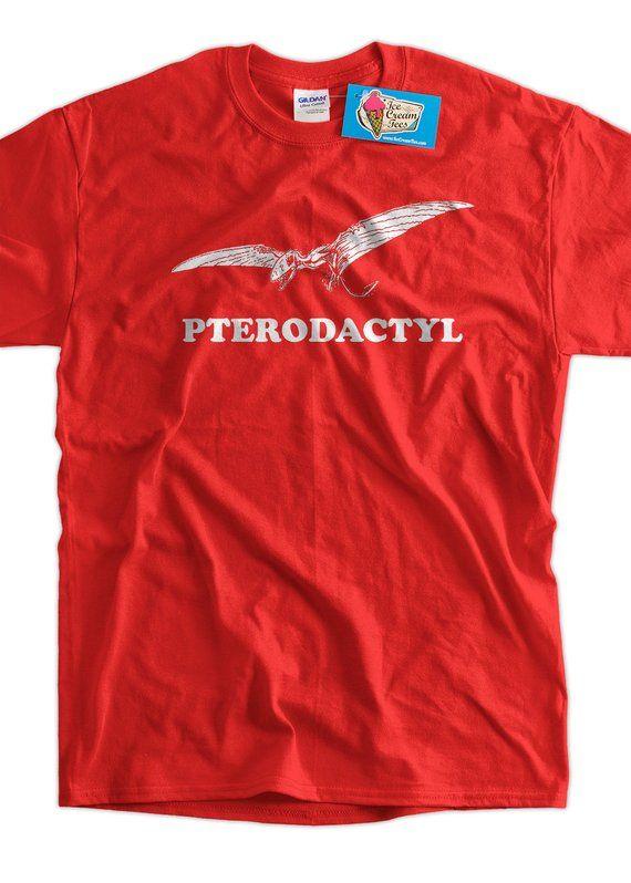 8c748c983 Pterodactyl Dinosaur Dino Geek Science School Screen Printed T-Shirt mens womens  ladies youth kids