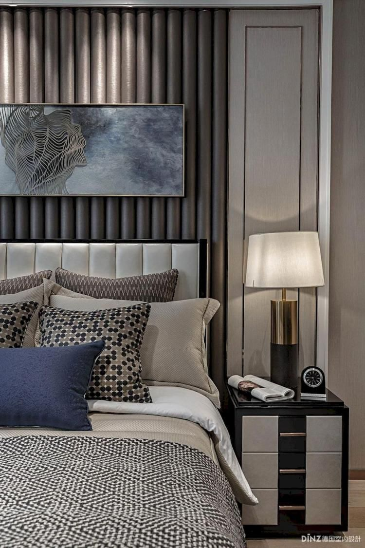 Best 65 Stunning Black And White Modern Bedroom Decor Ideas 640 x 480